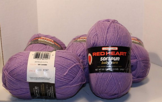 Red Heart Baby Yarn New Red Heart sofspun Baby Yarn 6 Skeins 100 Virgin orlon Of Wonderful 48 Ideas Red Heart Baby Yarn