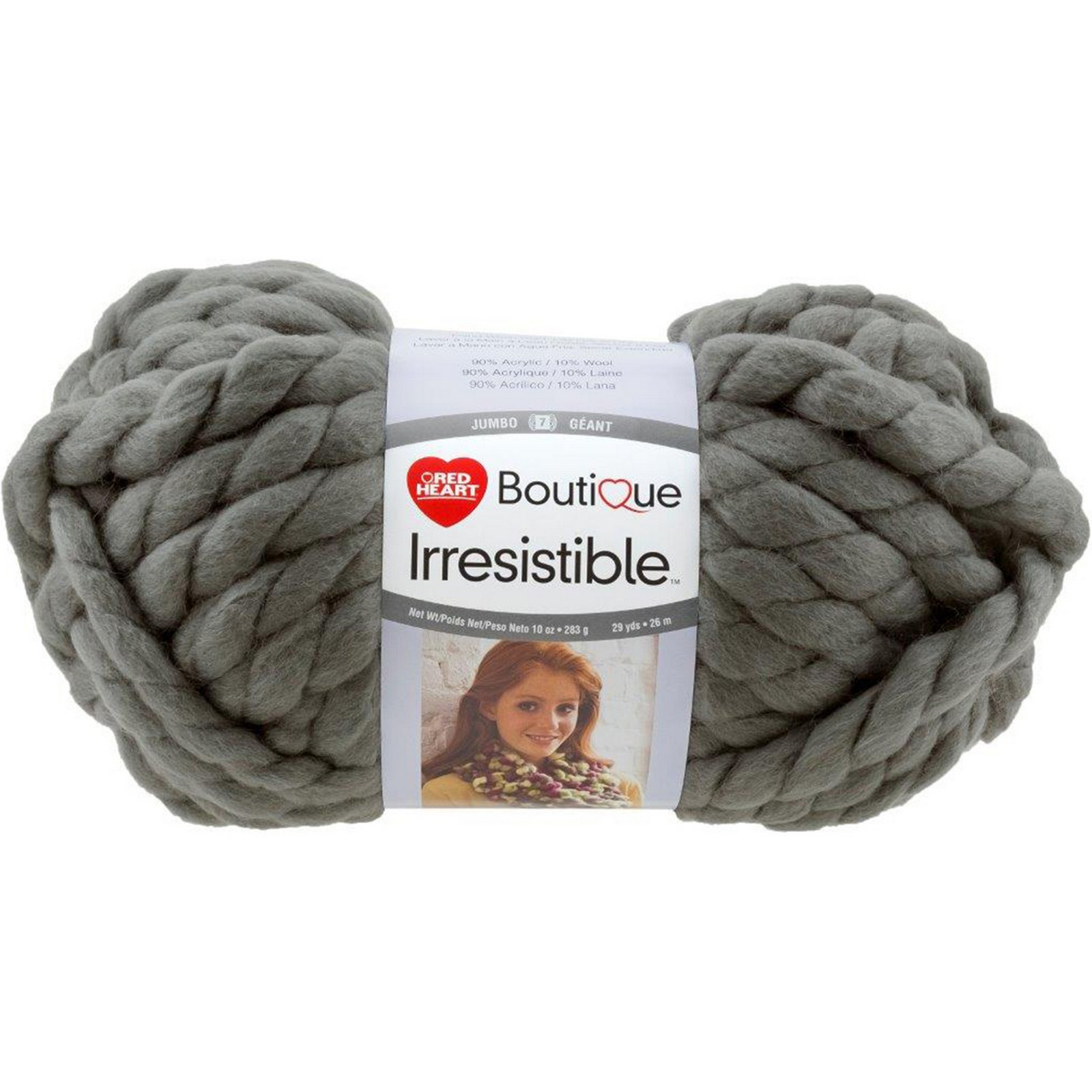 Red Heart Boutique Irresistible Yarn Grey