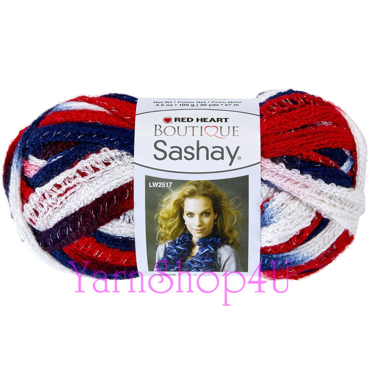 PATRIOTIC Red Heart Boutique yarn Sashay America 4th of