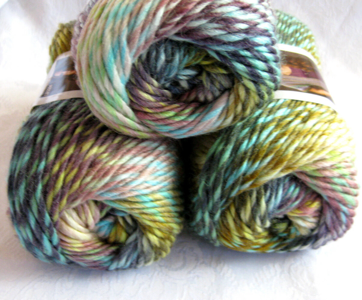 Red Heart Boutique Treasure yarn in WATERCOLORS Wool by