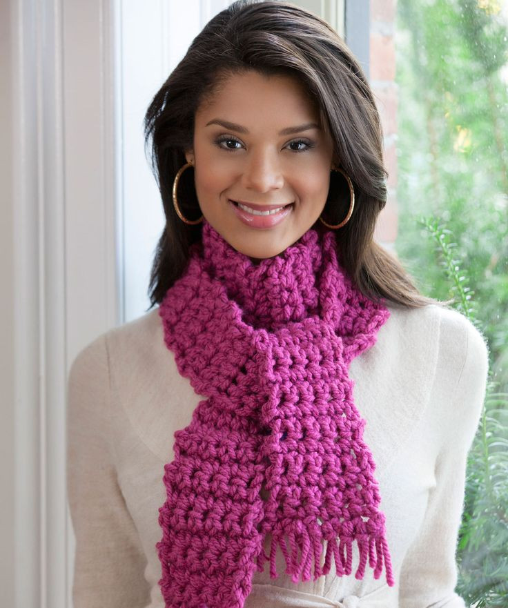 Red Heart Chunky Yarn Awesome Easiest Ever Scarf Crochet Pattern Of Charming 43 Pictures Red Heart Chunky Yarn