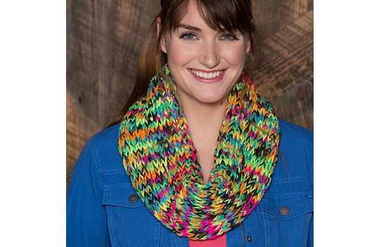 red heart super saver chunky colorful cowl