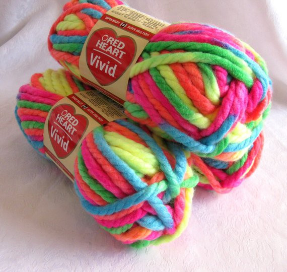 Red Heart Chunky Yarn Lovely Red Heart Vivid Yarn Neon Mix Multicolored Super by Crochetgal Of Charming 43 Pictures Red Heart Chunky Yarn