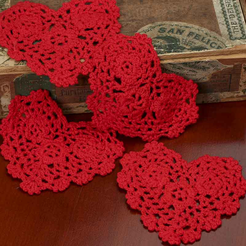Red Heart Crocheted Doilies Crochet and Lace Doilies
