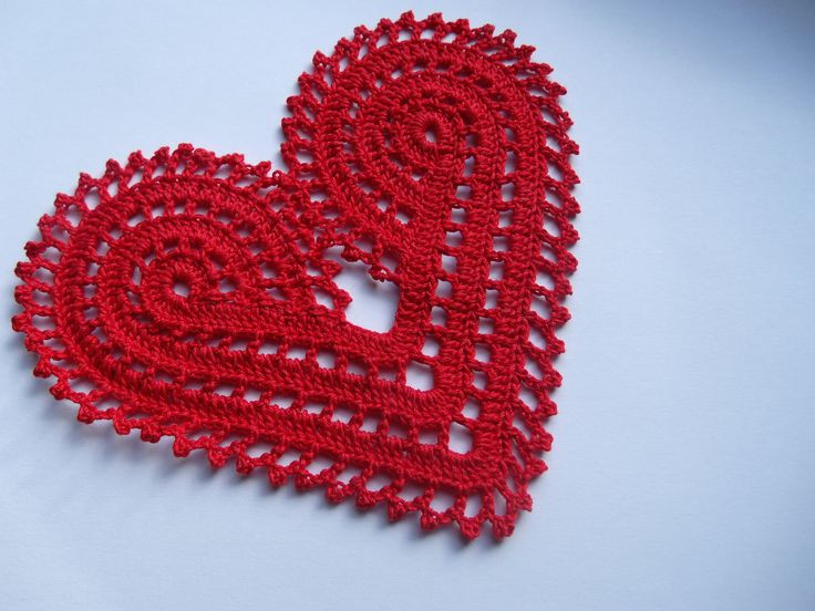 Red Heart Free Crochet Patterns Beautiful Hand Crochet Large Red Heart Doily Decoration or Applique Of Adorable 43 Images Red Heart Free Crochet Patterns