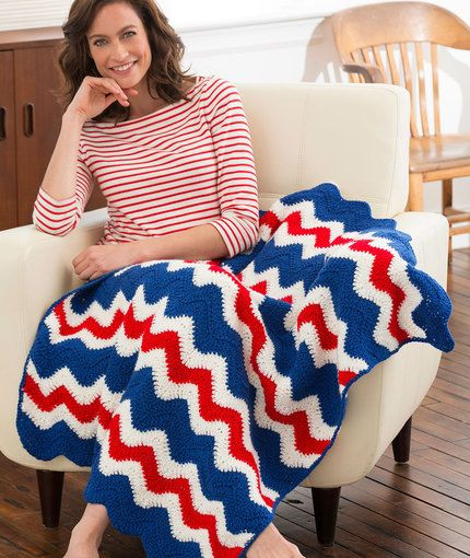 Red Heart Free Crochet Patterns Unique America's Ripple Throw Free Crochet Pattern From Red Heart Of Adorable 43 Images Red Heart Free Crochet Patterns