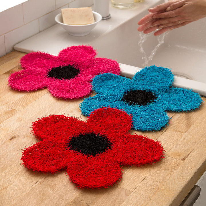 Red Heart Nylon Crochet Thread Awesome Crochet Flower Dish Scrubber Of Amazing 43 Pictures Red Heart Nylon Crochet Thread