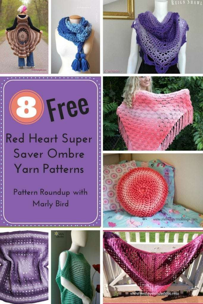 Red Heart Ombre Awesome 8 Free Red Heart Super Saver Ombre Yarn Patterns Marly Bird Of Delightful 46 Ideas Red Heart Ombre