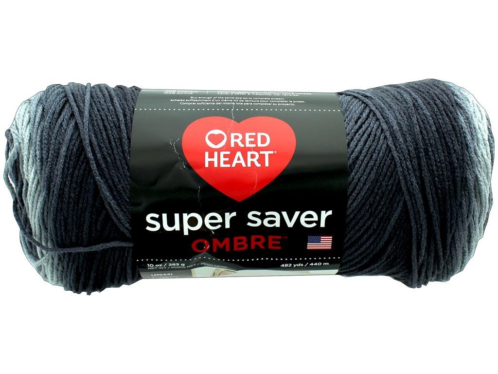 Red Heart Super Saver Ombre Yarn Anthracite