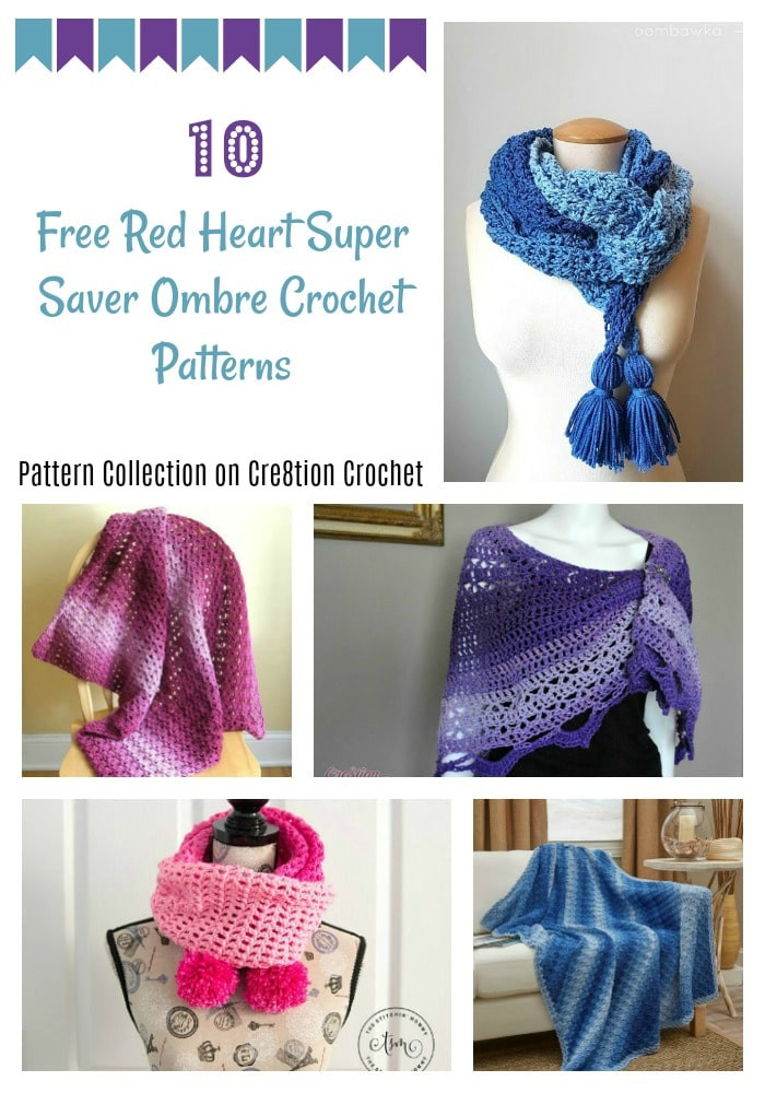 Red Heart Ombre Fresh Red Heart Super Saver Ombre Pattern Collection Cre8tion Of Delightful 46 Ideas Red Heart Ombre