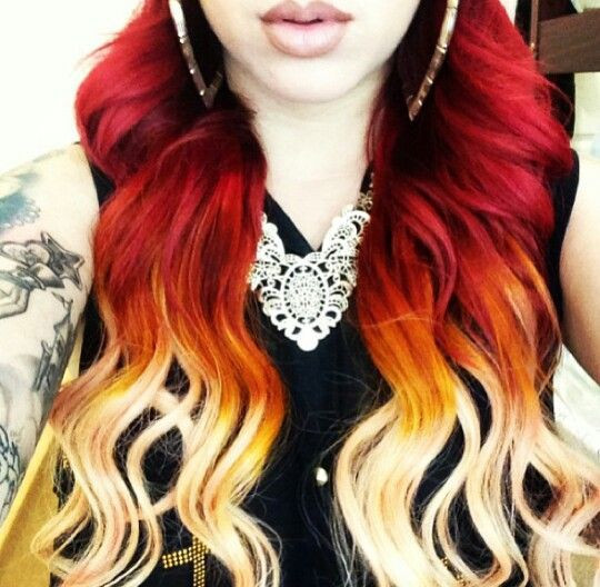 Red Heart Ombre Fresh Red Ombre Dip Dyed Hair Hair Dye Crazy Of Delightful 46 Ideas Red Heart Ombre