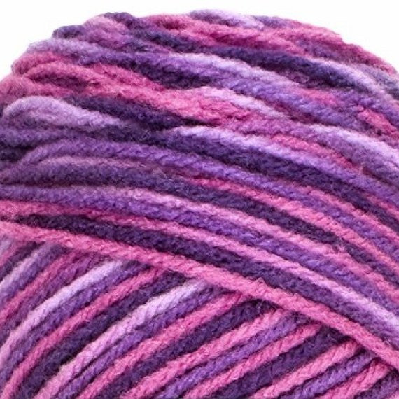 PLUM PUDDING Red Heart Super Saver Purple and Pink Multi