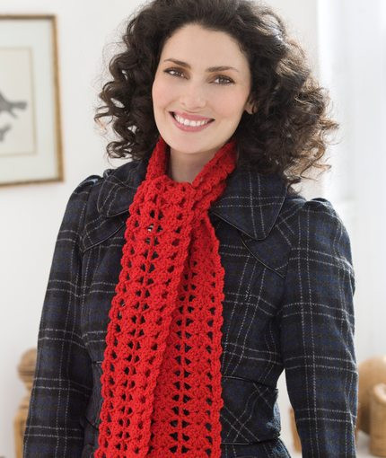Free Crochet Scarf Patterns Red Heart Dancox for