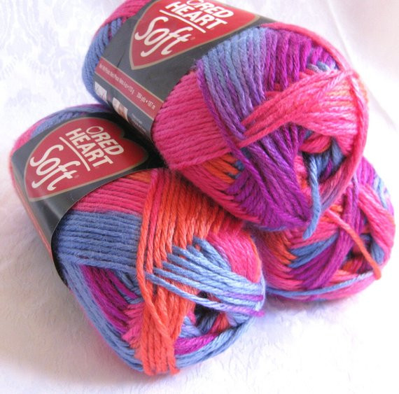 Red Heart Rainbow Yarn Awesome Red Heart soft Yarn Bohemian Bright Pink orange Blue by Of Luxury 41 Models Red Heart Rainbow Yarn