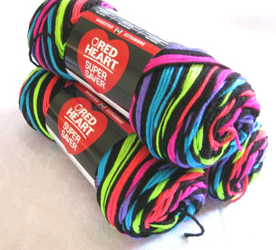 Red Heart Rainbow Yarn Beautiful Red Heart Super Saver Yarn Neon Stripes Worsted by Crochetgal Of Luxury 41 Models Red Heart Rainbow Yarn