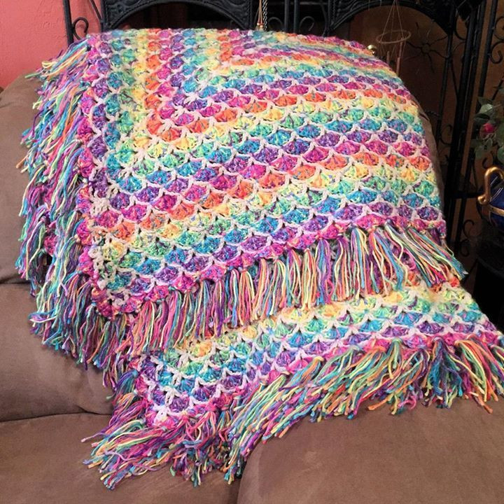"""Red Heart Rainbow Yarn Inspirational From Fan Camille Sutherland """"just Finished One Of My Of Luxury 41 Models Red Heart Rainbow Yarn"""