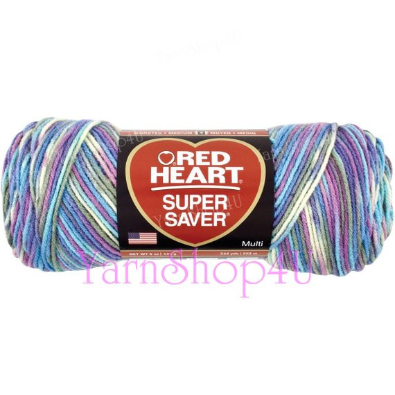MONET Red Heart Super Saver variegated Purple and blue