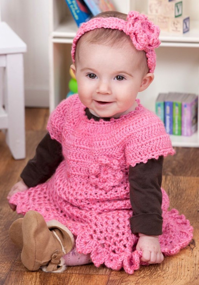 Red Heart soft Baby Steps Beautiful Little Sweetie Dress & Headband In Red Heart soft Baby Of Awesome 49 Ideas Red Heart soft Baby Steps