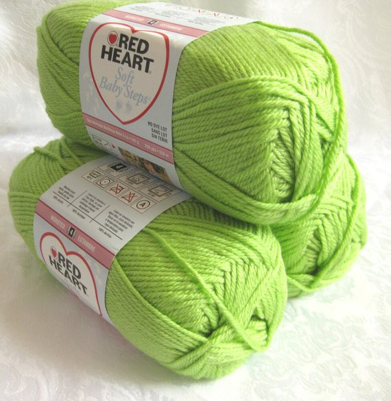 Red Heart soft Baby Steps Inspirational Lime Green Yarn Worsted Weight Red Heart soft Yarn by Of Awesome 49 Ideas Red Heart soft Baby Steps
