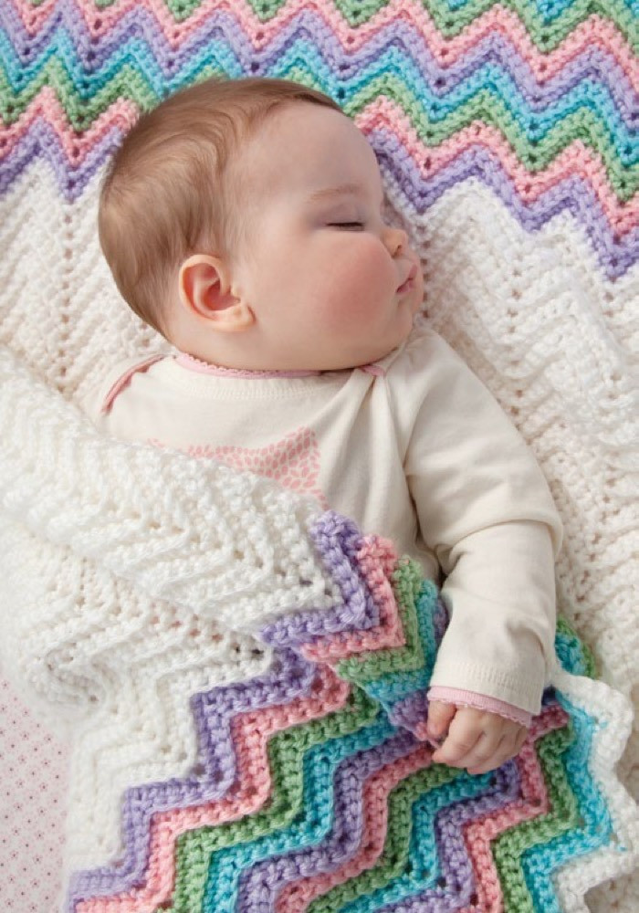 Red Heart soft Baby Steps New Rickrack Rainbow Baby Blanket In Red Heart soft Baby Steps Of Awesome 49 Ideas Red Heart soft Baby Steps