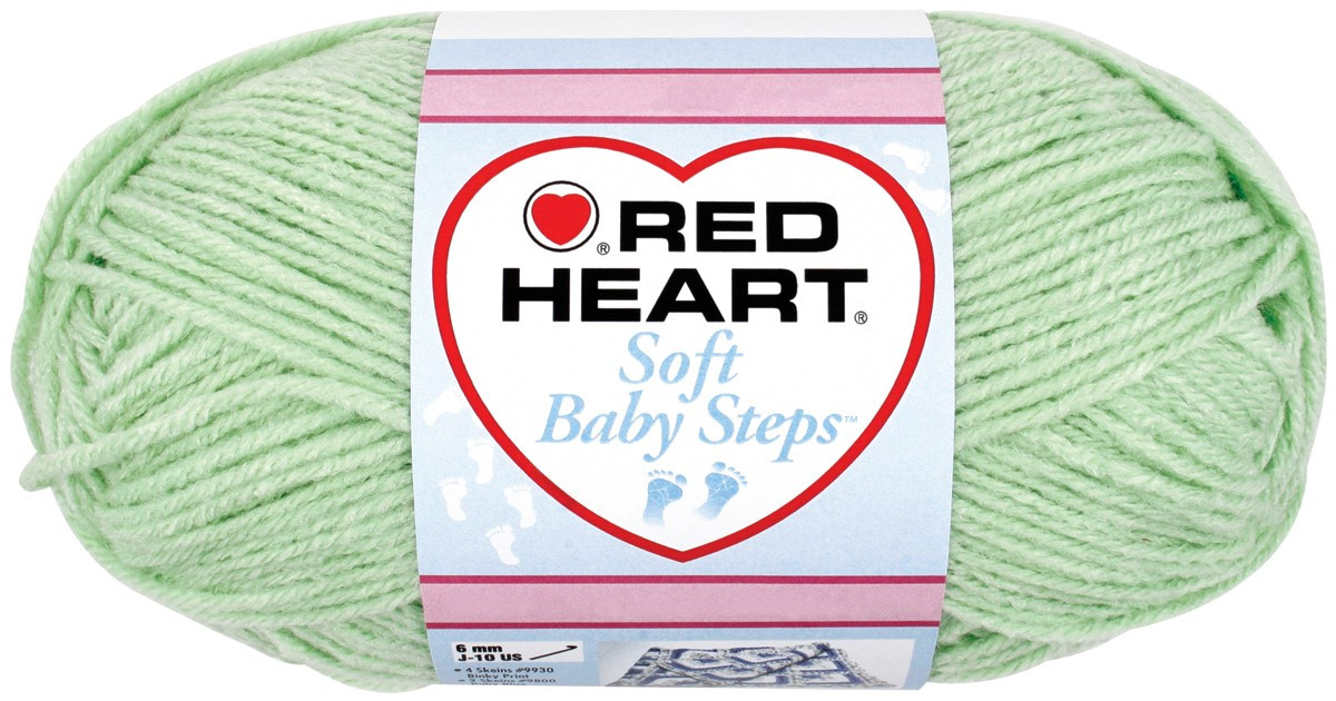 Red Heart Soft Baby Steps Yarn Pack of 2