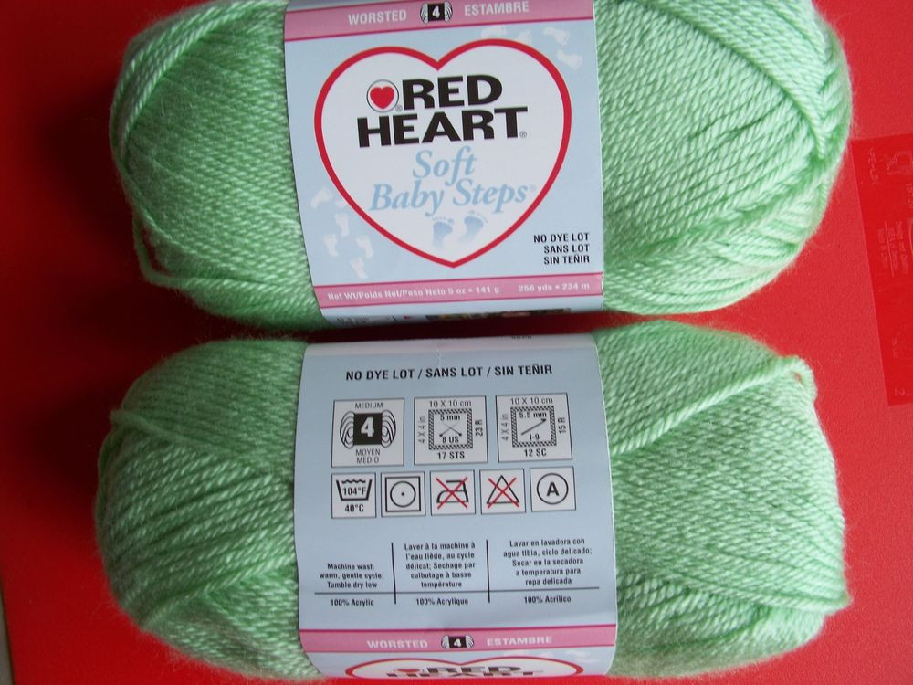 Red Heart soft Baby Yarn Fresh Red Heart soft Baby Steps Yarn Baby Green Lot Of 2 256 Of Brilliant 45 Ideas Red Heart soft Baby Yarn