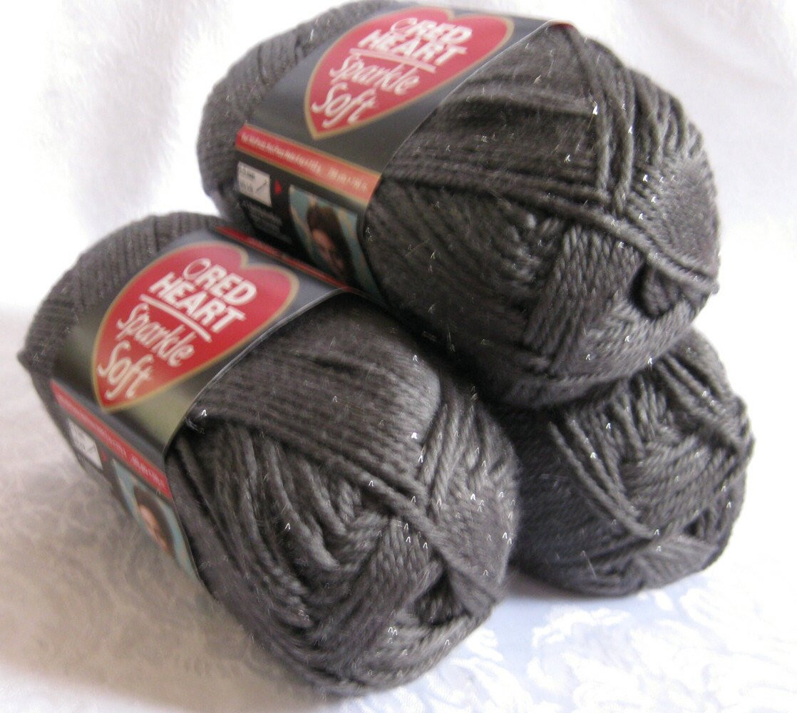 Red Heart soft Yarn Best Of Red Heart Sparkle soft Yarn Charcoal Gray Medium by Crochetgal Of Wonderful 38 Images Red Heart soft Yarn
