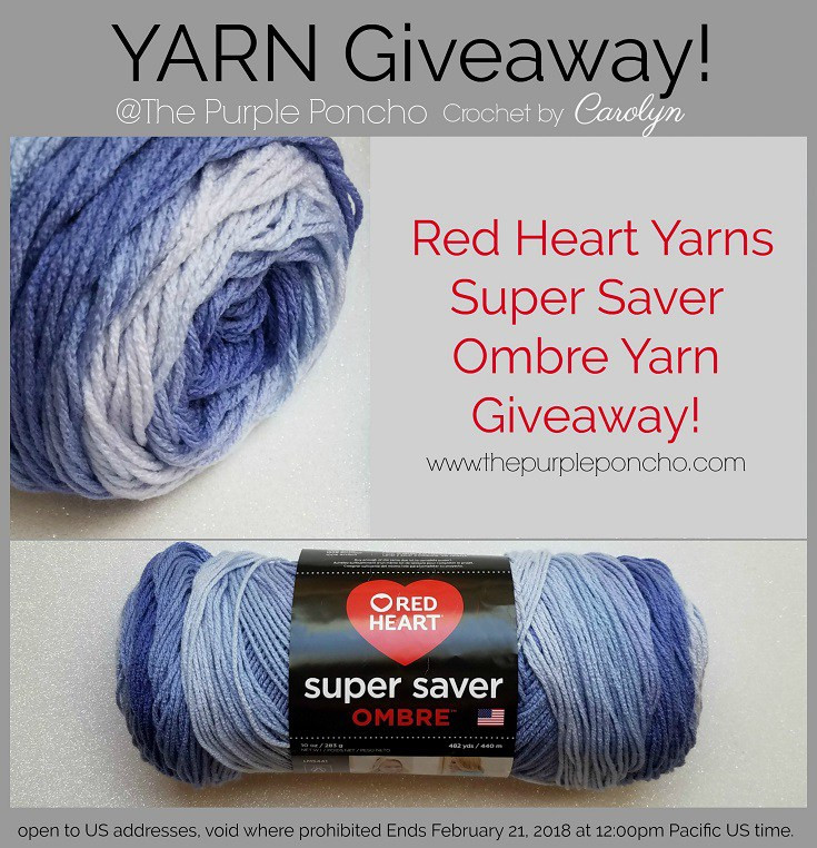Red Heart Super Saver Ombre Elegant Giveaway Red Heart Yarns – the Purple Poncho Of Delightful 32 Pics Red Heart Super Saver Ombre