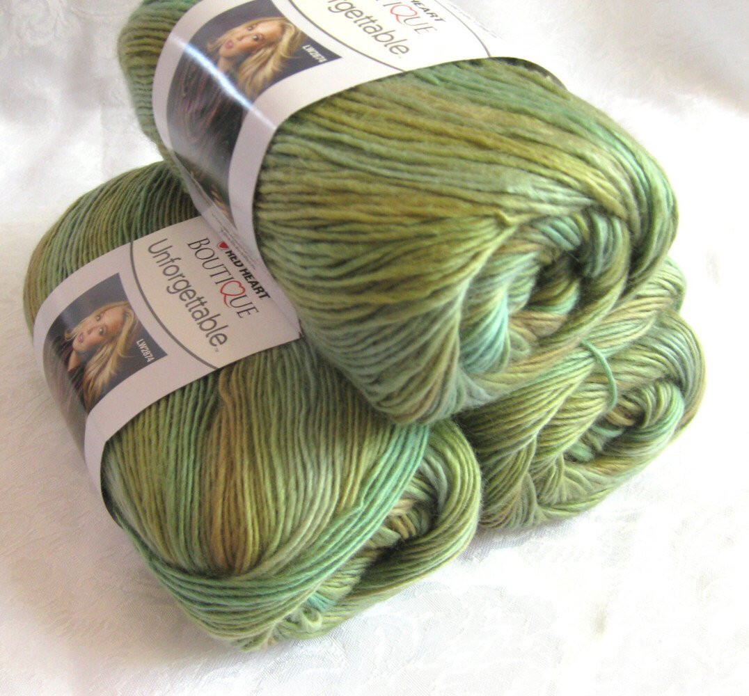 Red Heart Unfor table yarn MEADOW prairie shades by