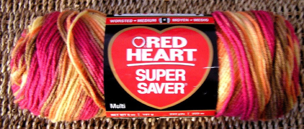 red heart super saver variegated yarn 0947 by