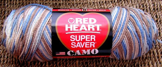red heart super saver variegated yarn