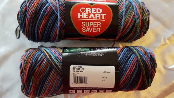 Red Heart SUPER SAVER Variegated OVERSTOCK Yarn 236 Yards