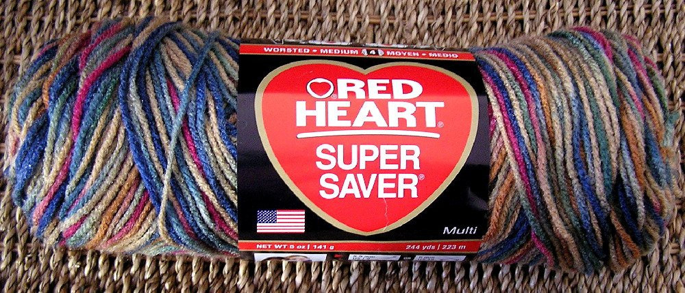 new red heart super saver variegated yarn by