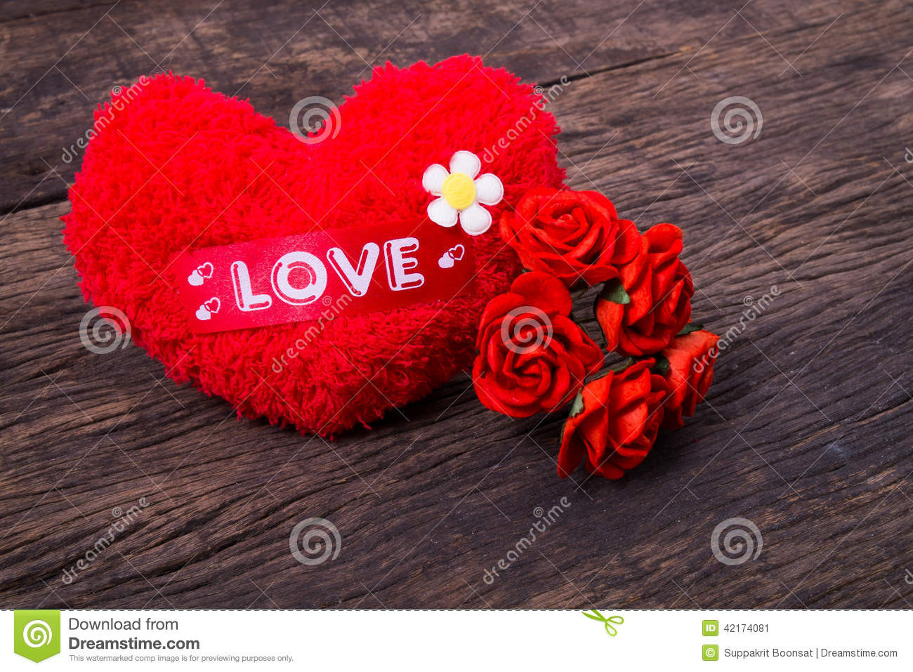Red Heart with Love Beautiful Red Heart with Love Word and Roses Royalty Free Stock Of Red Heart with Love Fresh Love Heart Impremedia