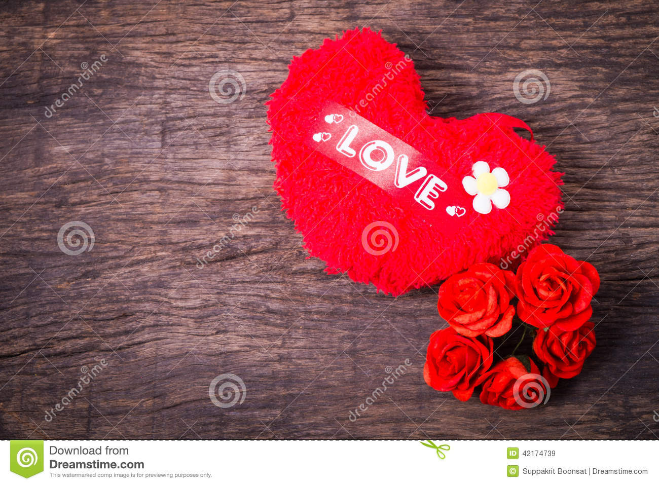 Red Heart with Love Elegant Red Heart with Love Word and Roses Royalty Free Stock Of Red Heart with Love Fresh Love Heart Impremedia