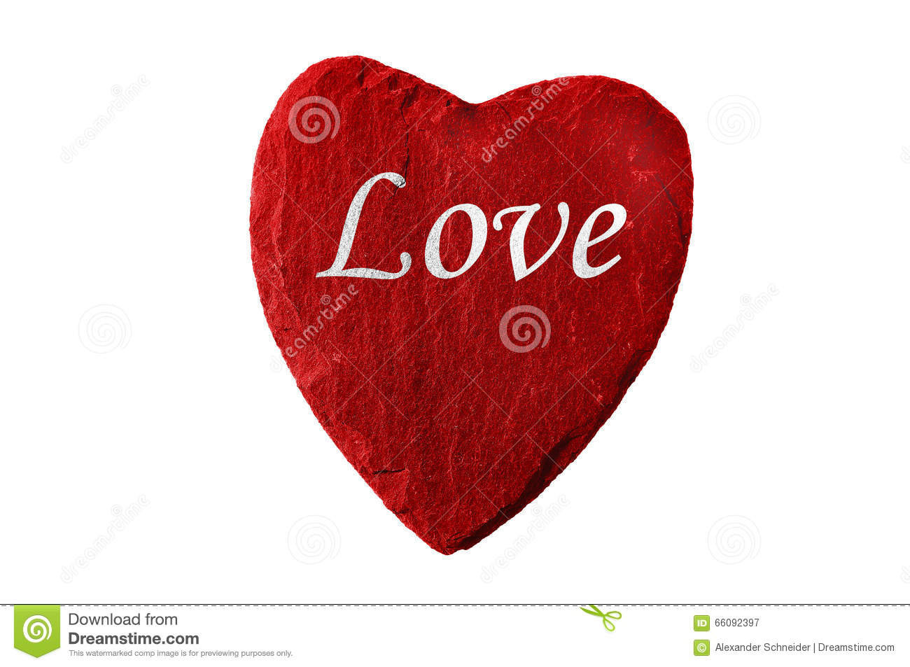 Red Heart With Love Stock Image
