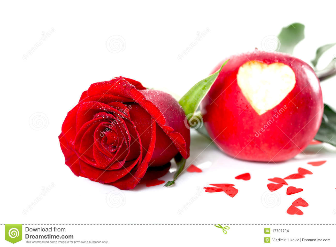 Red Heart with Love Lovely Red Rose with Heart for Love Stock Image Of Object Of Red Heart with Love Fresh Love Heart Impremedia