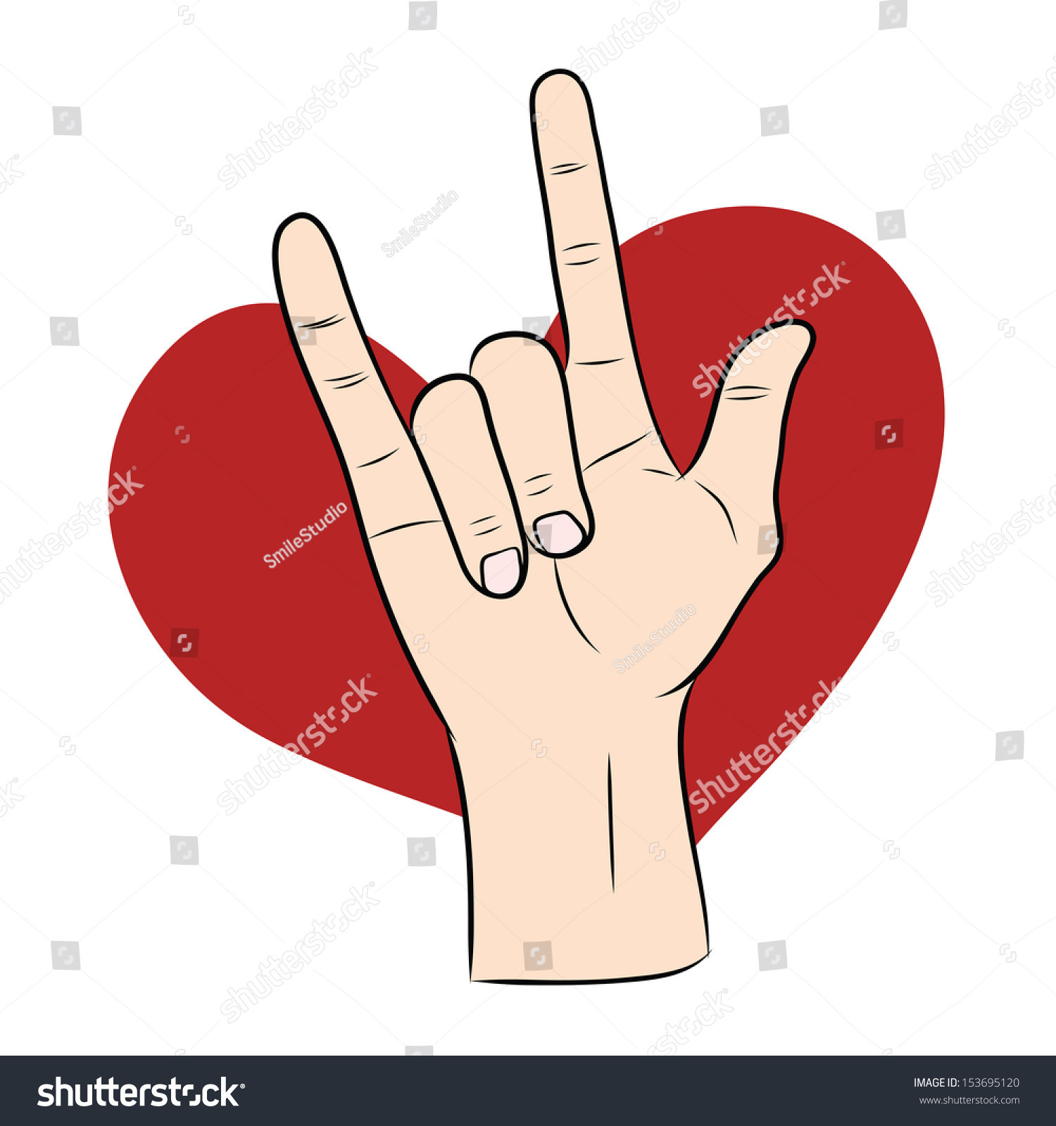 Red Heart with Love Luxury Love Hand Sign Red Heart Stock Vector Shutterstock Of Awesome 41 Ideas Red Heart with Love