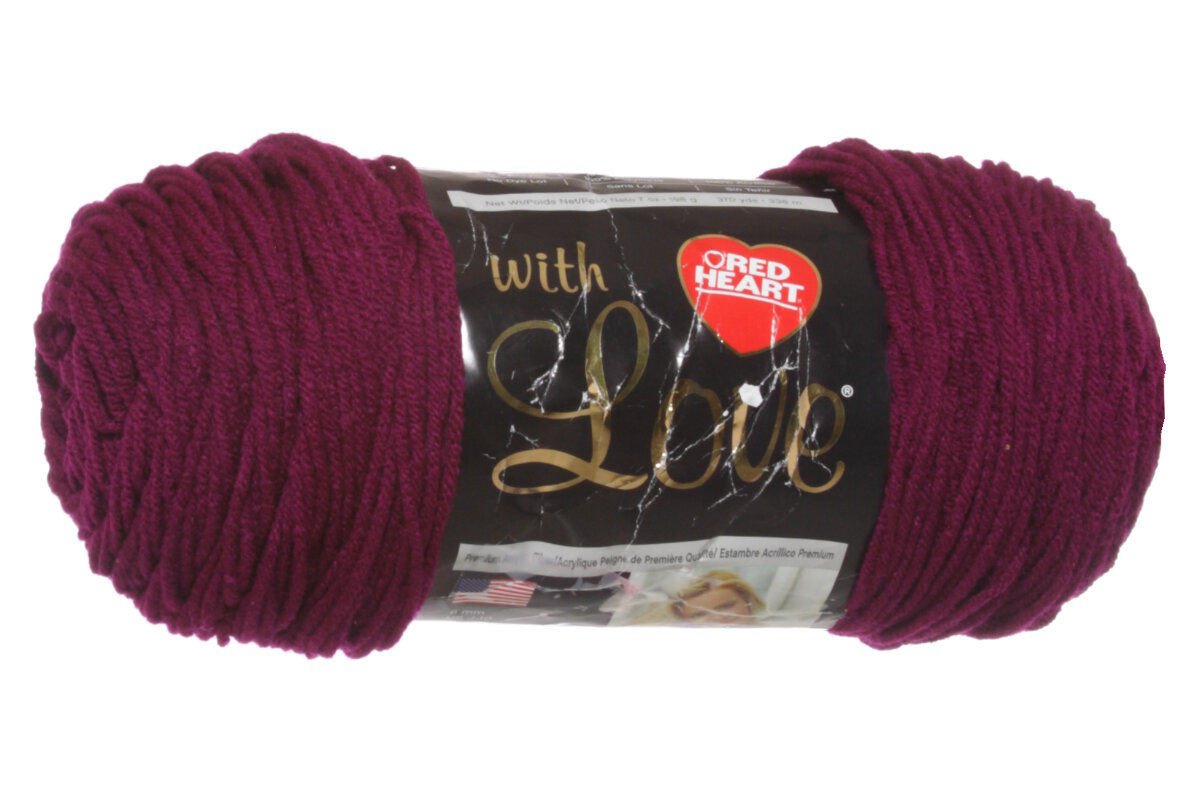 Red Heart With Love Yarn 1907 Boysenberry at Jimmy Beans