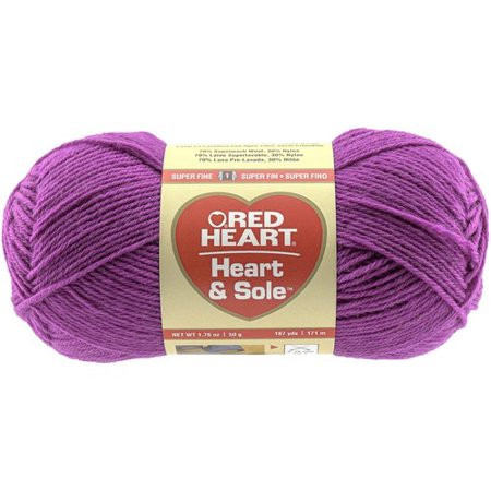 Red Heart Heart & Sole Yarn Available in Multiple Colors
