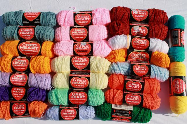 Red Heart Yarn Colors Fresh Lot Of Vintage Acrylic Yarn Red Heart Classic & Super Of Innovative 48 Ideas Red Heart Yarn Colors
