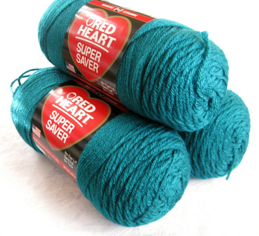red heart super saver yarn real teal