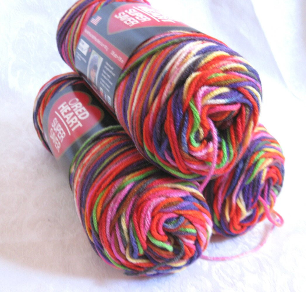 Red Heart Super Saver yarn BUTTERFLY worsted by crochetgal