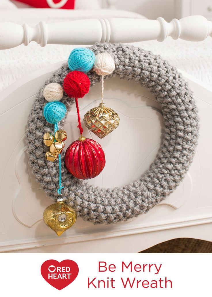 Red Heart Yarn Patterns Lovely Be Merry Knit Wreath Free Knitting Pattern In Red Heart Of Luxury 48 Images Red Heart Yarn Patterns