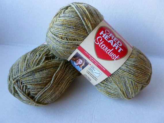 yarn sale green stardust by red heart