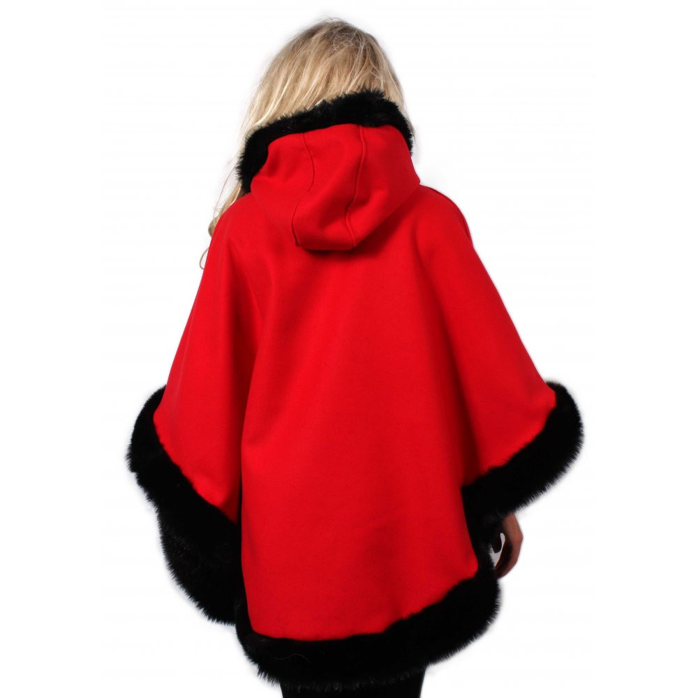 Red Hooded Cape Awesome Red Hooded Cape with Black Fur Trim From Parisia Of Perfect 49 Photos Red Hooded Cape
