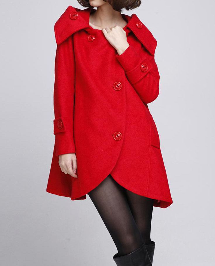 Red Hooded Cape Beautiful Red Cloak Wool Coat Hooded Cape Women Winter Wool Coat Of Perfect 49 Photos Red Hooded Cape