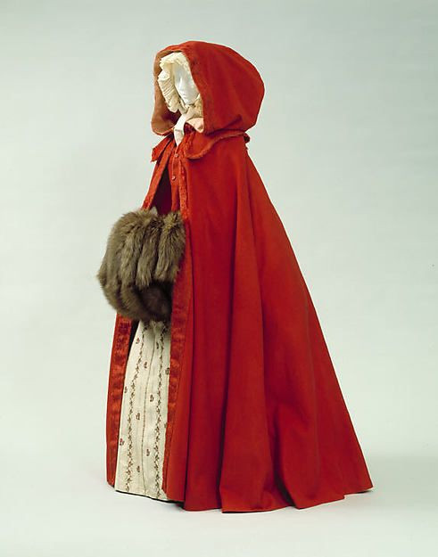 Cape last third 18th century American or European The