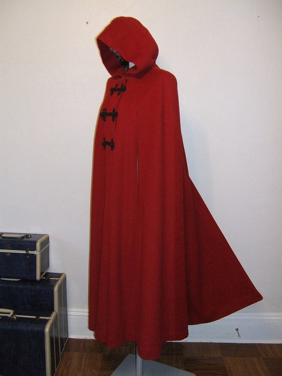 Red Hooded Cape Best Of Dramatic 40 S Hooded Red Cloak Vintage Full Length Wool Of Perfect 49 Photos Red Hooded Cape