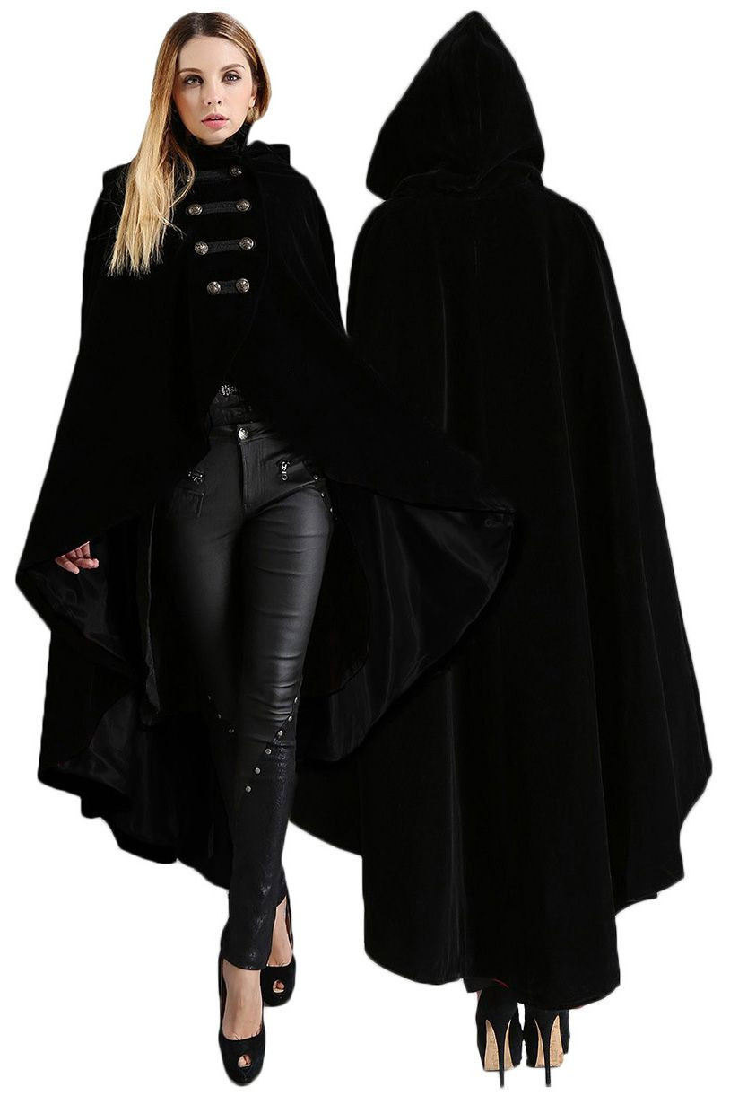Red Hooded Cape Elegant Pentagramme Gothic Cape Velvet Hooded Cloak with Military Of Perfect 49 Photos Red Hooded Cape